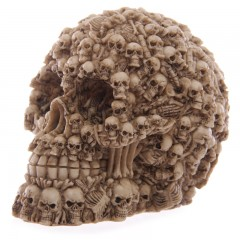 Multiple Skulls Head Skeleton Decoration Gothic Ornament Decor 12cm