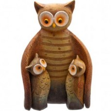 Owl Family Mother & Baby Ornament
