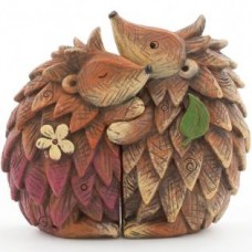Woodland Hugging Hedgehog Couple Ornament