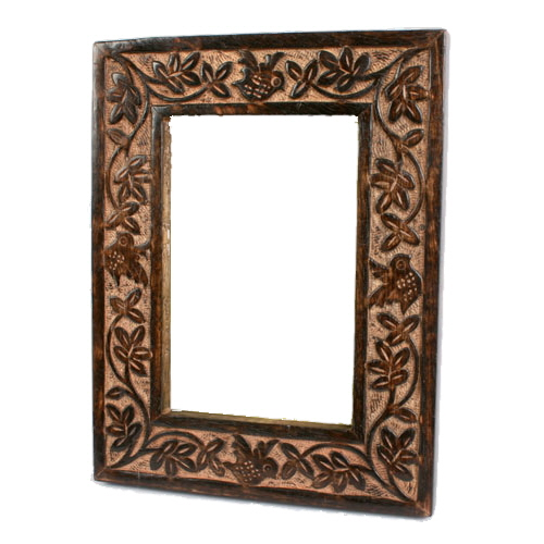Home Decor,Fair Trade,Photo Frames Handmade Mango Wood Bird & Leaves ...